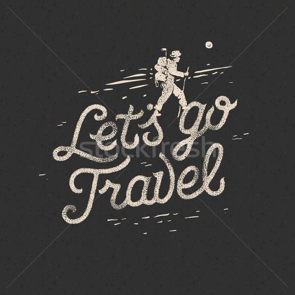 Podróży turysta plecak teren przygoda motywacja Zdjęcia stock © ikopylov