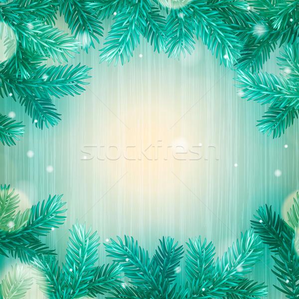 冬 抽象的な クリスマス 雪 木材 森林 ストックフォト © ikopylov