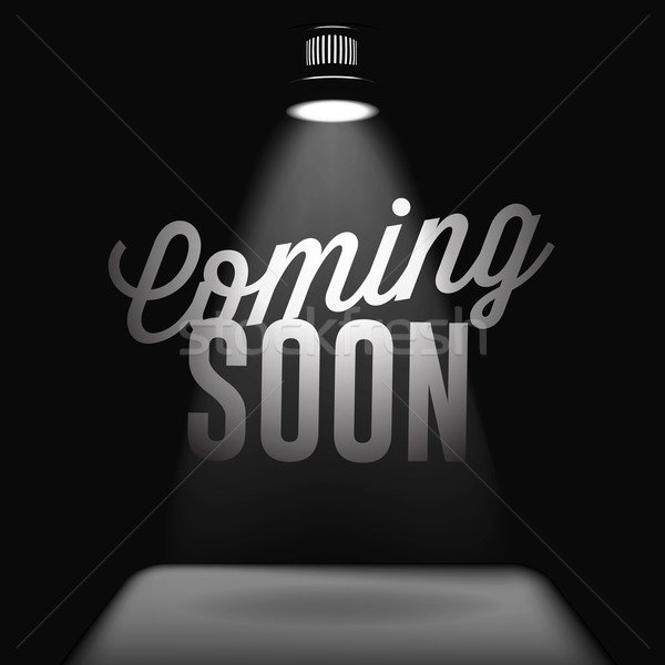 Stock photo: Coming soon, sale poster