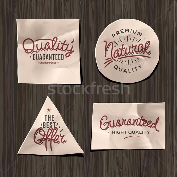 Premium quality craft paper labels Stock photo © ikopylov