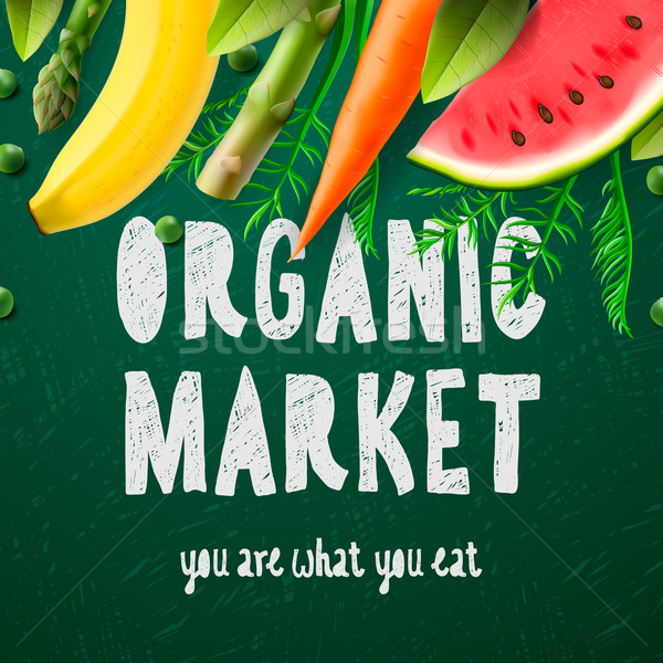 Organic food market Stock photo © ikopylov
