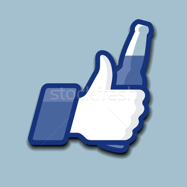 Like/Thumbs Up symbol icon with beer bottle Stock photo © ikopylov