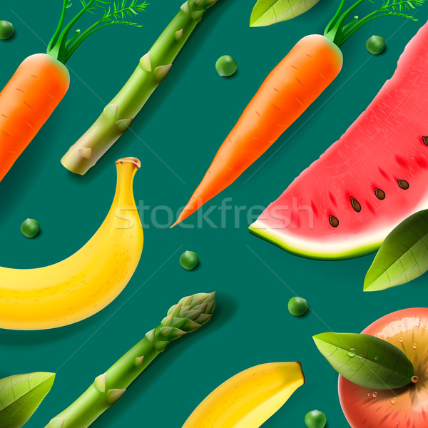Vegetarian food pattern Stock photo © ikopylov
