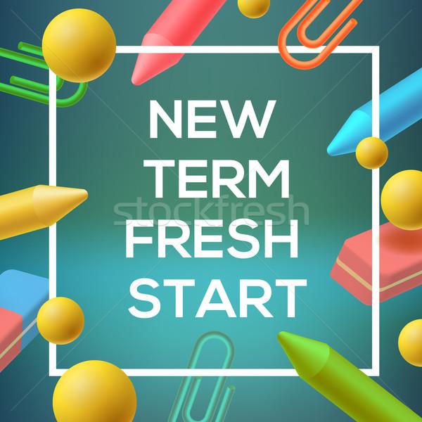 New Term, back to school background Stock photo © ikopylov