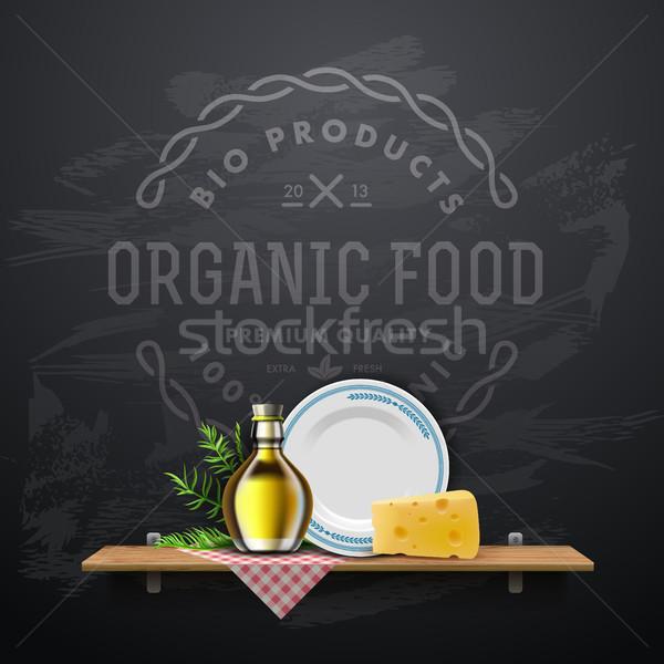 Retro vintage style restaurant menu design Stock photo © ikopylov