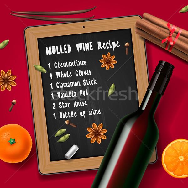 クリスマス ドリンク ワイン ワインボトル レシピ レストラン ストックフォト © ikopylov