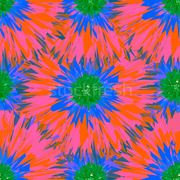 Seamless bright colors tropical floral pattern Stock photo © ikopylov