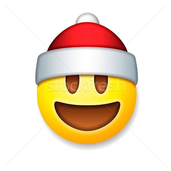 Noel baba ifade gülme tatil gülümseme simge Stok fotoğraf © ikopylov