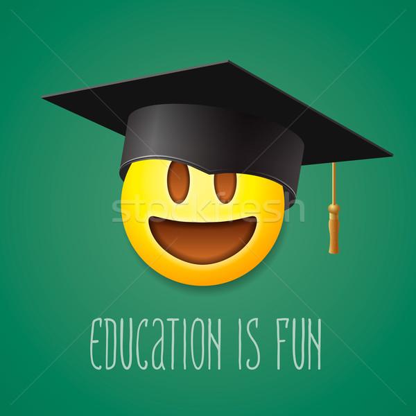 Сток-фото: образование · весело · смайлик · смеясь · улыбка · символ
