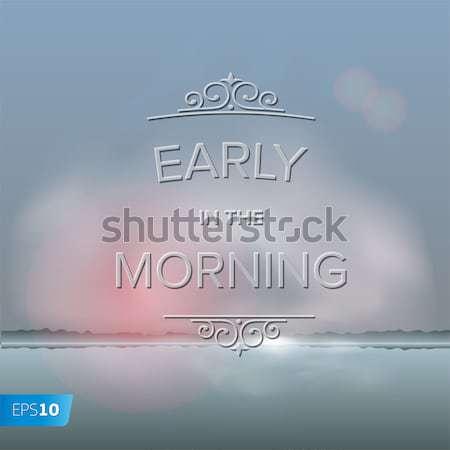 Puslu sabah vektör eps10 örnek gökyüzü Stok fotoğraf © ikopylov