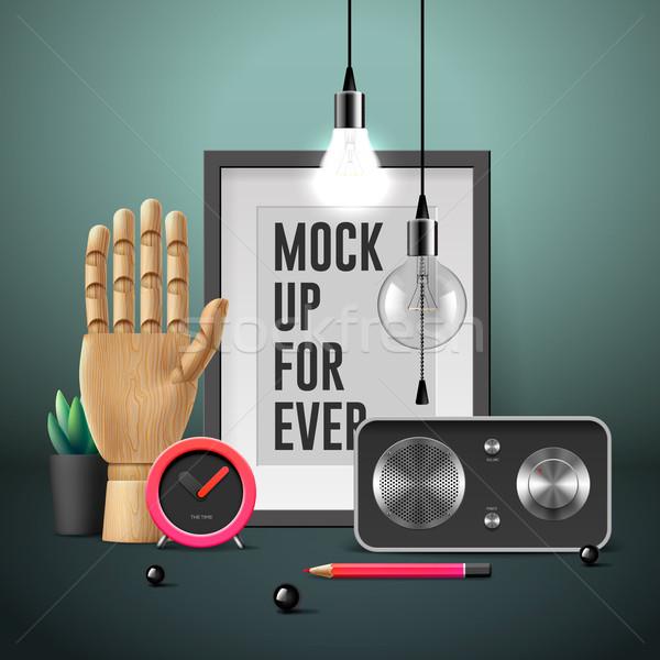 Workspace mock up Stock photo © ikopylov