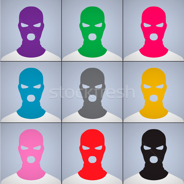 The anonymous author of avatars in a cap-mask Stock photo © ikopylov
