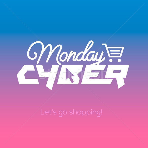 Cyber Monday online shopping and marketing concept Stock photo © ikopylov