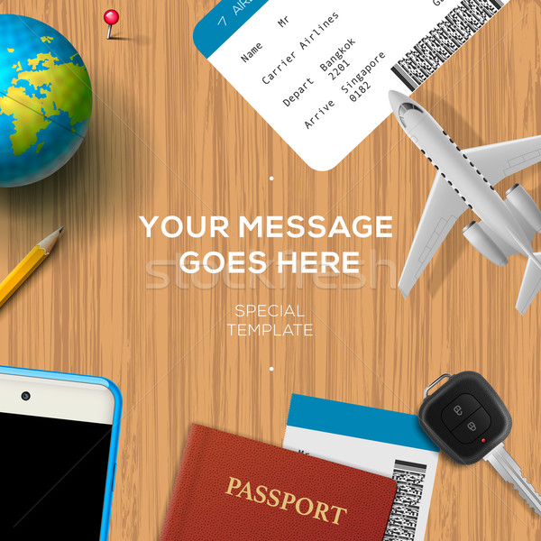 Travelling background, travel and vacation concept Stock photo © ikopylov