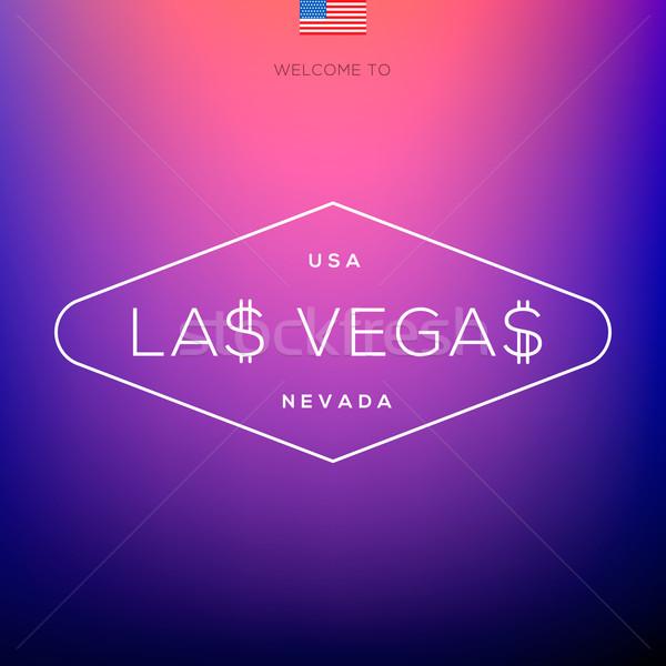 World Cities labels - Las Vegas. Stock photo © ikopylov