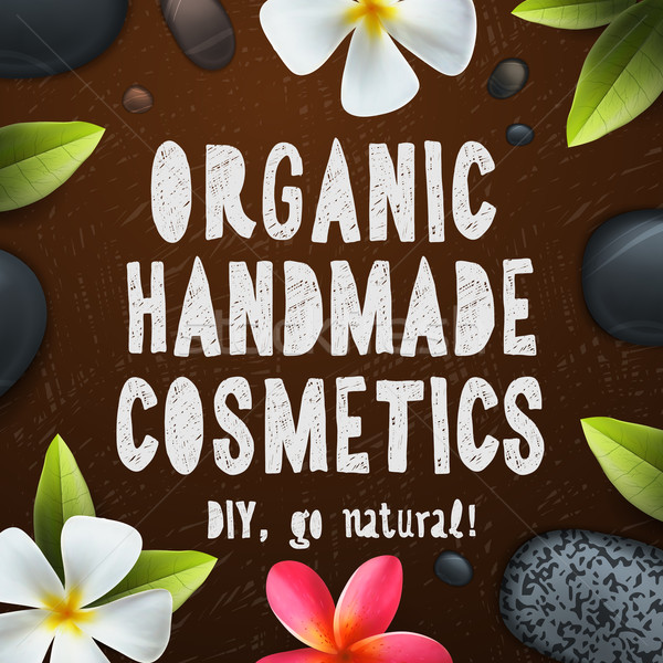 Handgemaakt organisch cosmetica natuurlijke ingrediënten Stockfoto © ikopylov