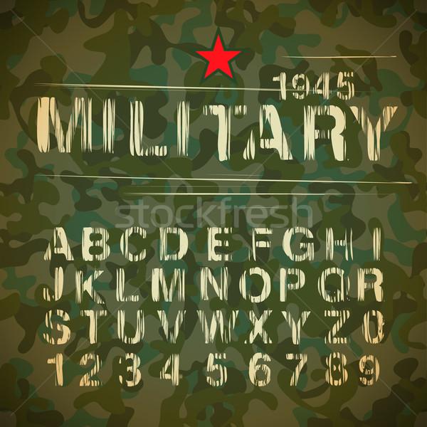 Military Vintage Alphabet Stock photo © ikopylov