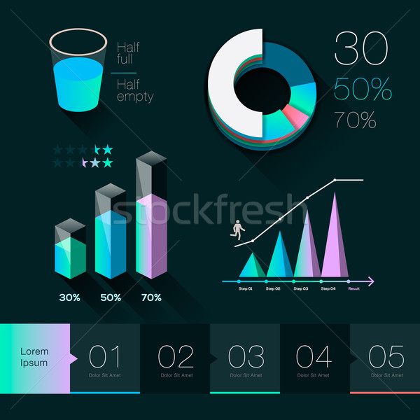 Set elements of info graphics Stock photo © ikopylov