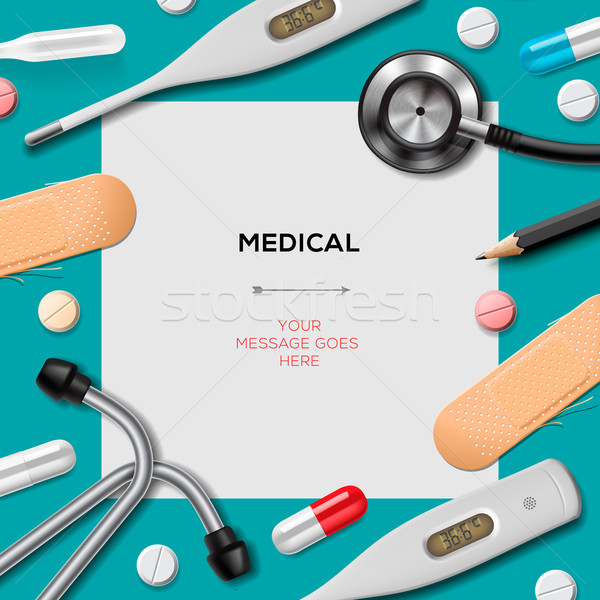 Medical template with medicine equipment Stock photo © ikopylov