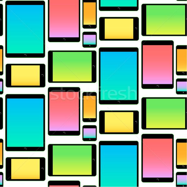 Komórkowych kolorowy wzór wektora Zdjęcia stock © ikopylov