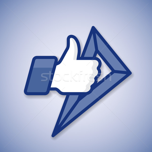 School Like/Thumbs Up symbol icon with ruler Stock photo © ikopylov