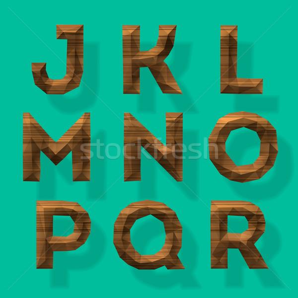 木製 アルファベット ベクトル eps10 実例 芸術 ストックフォト © ikopylov