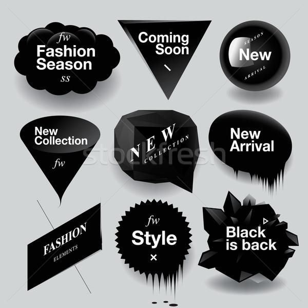 Mode verkoop ingesteld achtergrond frame Stockfoto © ikopylov
