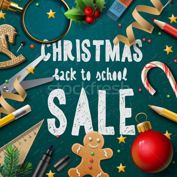 Natale fiera poster scuole business Foto d'archivio © ikopylov