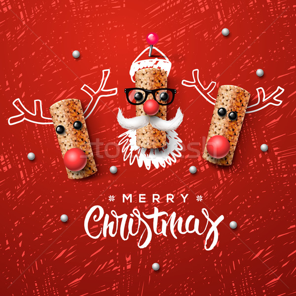 Christmas characters, Santa Claus and reindeer Stock photo © ikopylov