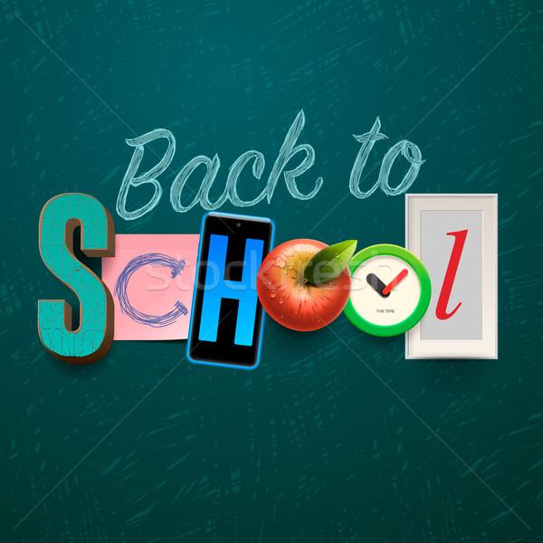 Back to school background Stock photo © ikopylov