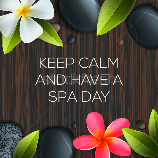 Keep calm and have a Spa day Stock photo © ikopylov