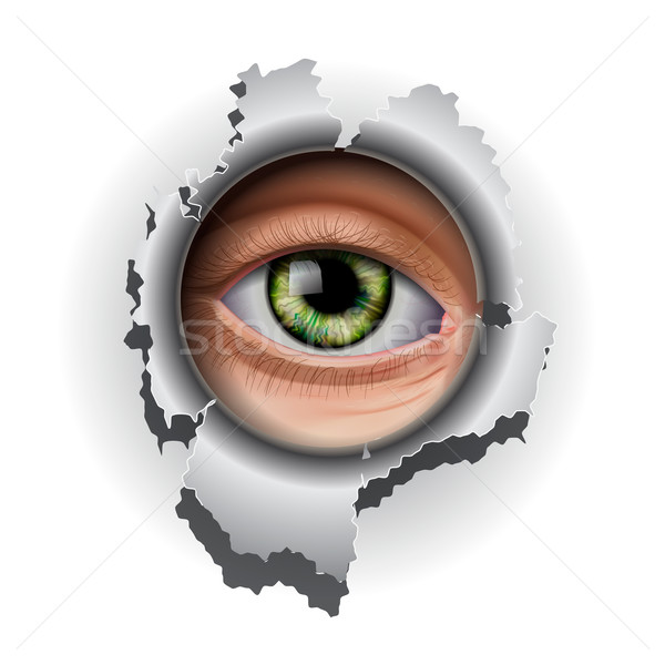 Interested Eye looking in hole Stock photo © ikopylov