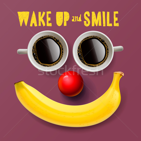 Wake up and smile, motivation background Stock photo © ikopylov