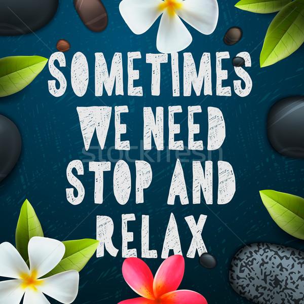 Necessidade pare relaxar saúde beleza modelo Foto stock © ikopylov