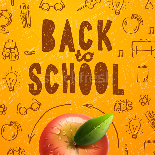 Welcome back to school sale background Stock photo © ikopylov