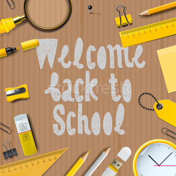 Welcome Back to school template Stock photo © ikopylov