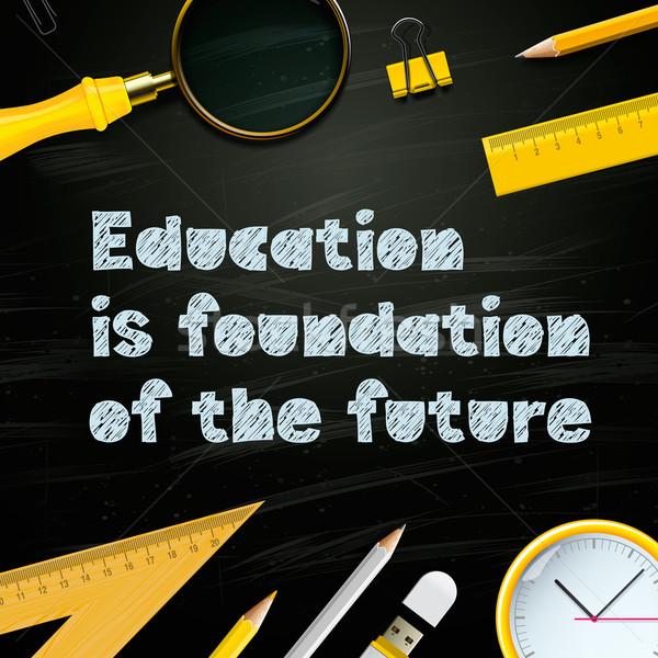 Oktatás alap jövő tanulás sablon üzlet Stock fotó © ikopylov