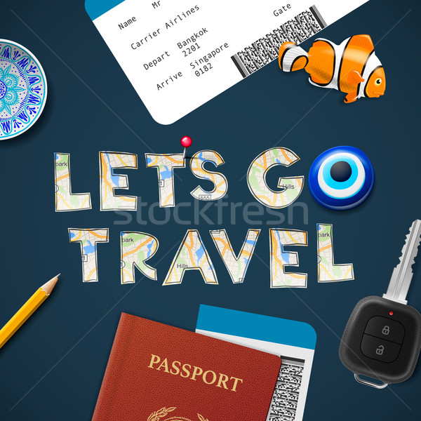 Lets go travel the world. Vacations and tourism concept. Stock photo © ikopylov