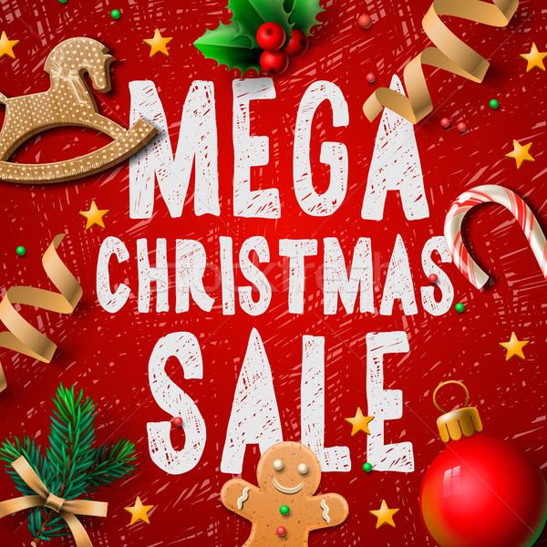 Рождества продажи плакат как дизайна Сток-фото © ikopylov