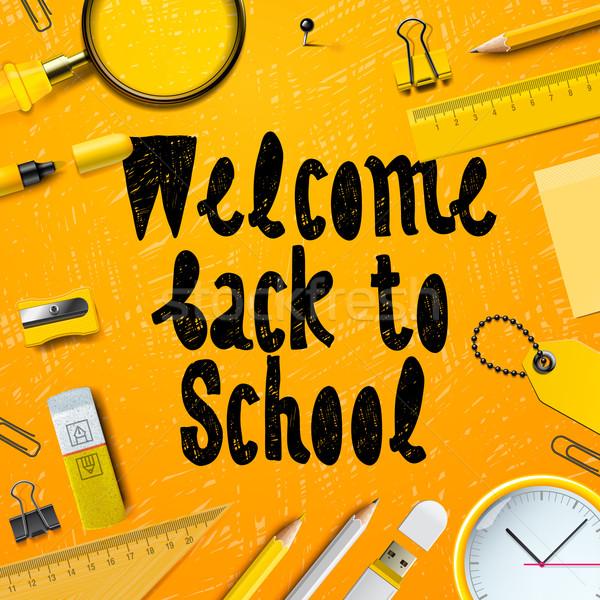 Back to School marketing background Stock photo © ikopylov