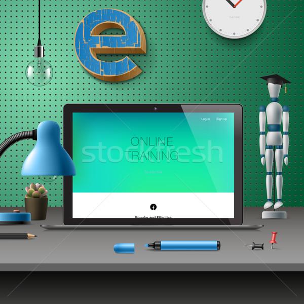 Training Development, online education concept Stock photo © ikopylov