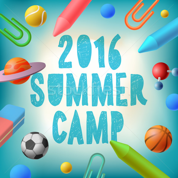 Summer camp 2016, themed poster Stock photo © ikopylov