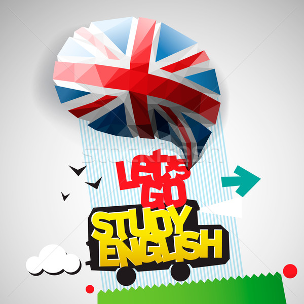 Let's go study English background Stock photo © ikopylov