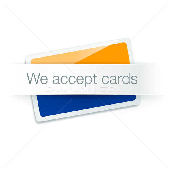 We accept cards - credit card isolated on white Stock photo © ikopylov