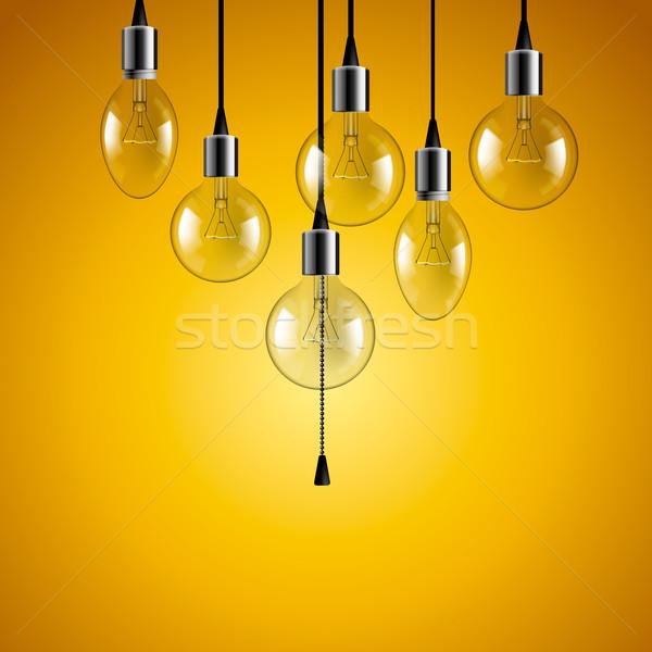 アイデア 電球 革新 デザイン ノートパソコン ストックフォト © ikopylov