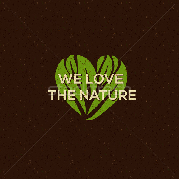 Organik gıda logo amblem doğal gıda içmek Stok fotoğraf © ikopylov