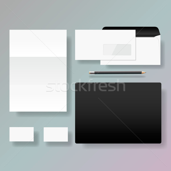 Set of corporate identity style template design Stock photo © ikopylov