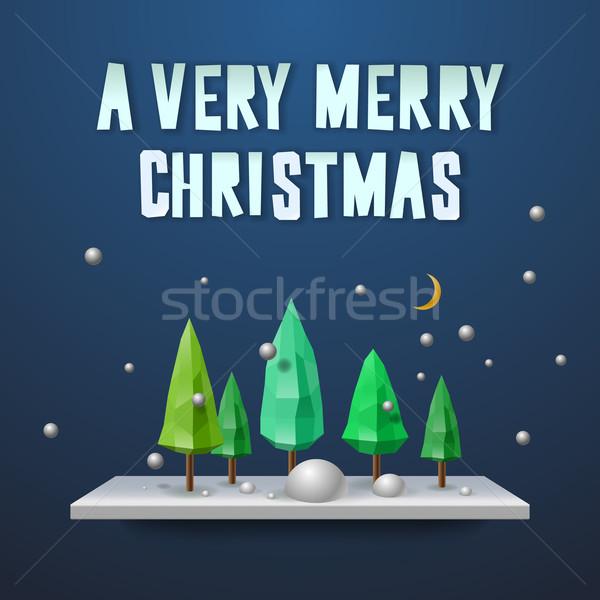 陽気な クリスマス グリーティングカード パーティ クロック 背景 ストックフォト © ikopylov