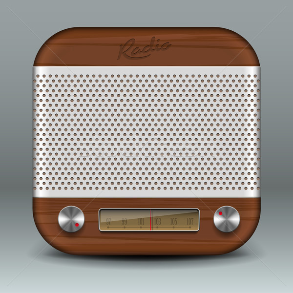 Retro radio app icon Stock photo © ikopylov
