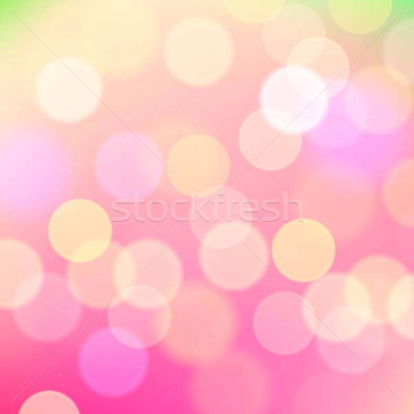 抽象的な ぼやけた ピンク 休日 ライト ベクトル ストックフォト © ikopylov